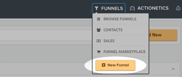 Click New Funnel