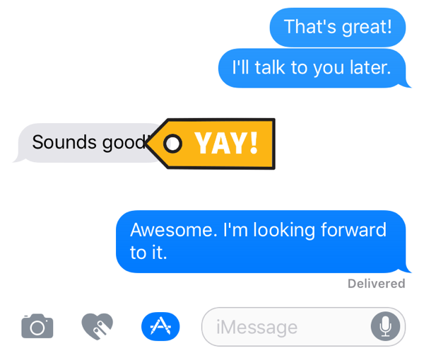 Stick added to an ongoing conversation