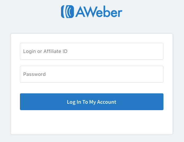 Login in page