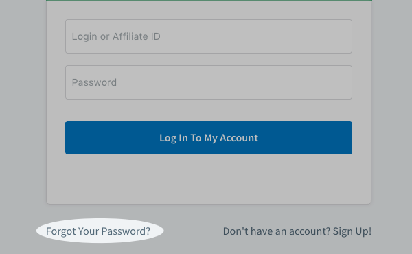 Password reset link