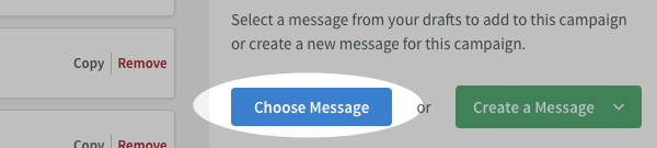 Click Choose Message from Settings