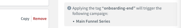 Campaign tag notification