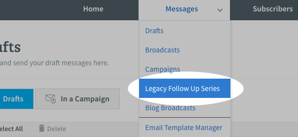 Legacy Follow Up Series under Messages