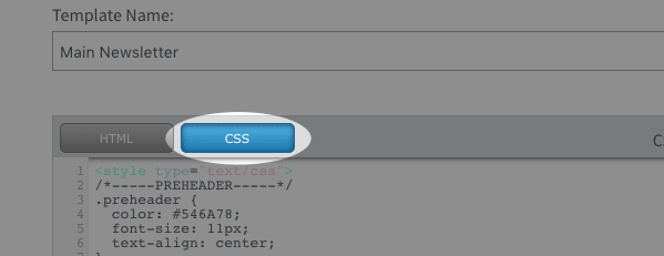 blue CSS button highlighted
