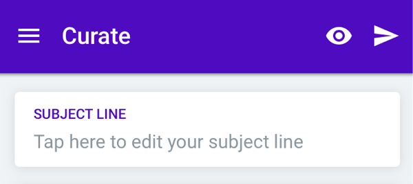 Editing a subject line