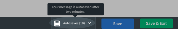 Autosaves section