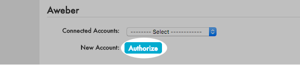 Select a connected account or choose to connect to a new account from the drop down menu and click Authorize