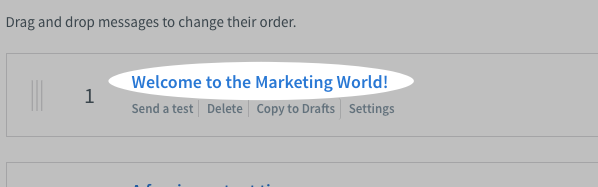Click on the subject line of the message that you want to edit