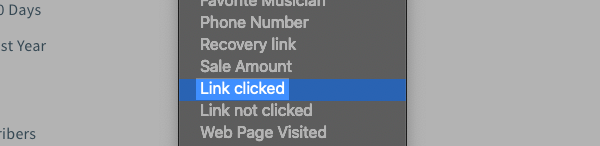 Link clicked search option