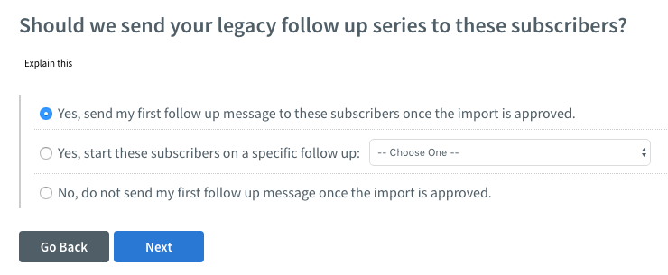 Select what message subscribers should receive