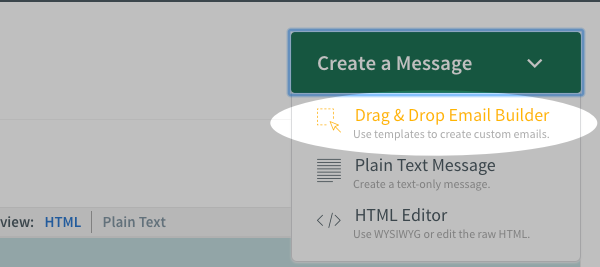 Select Drag and Drop Email Builder