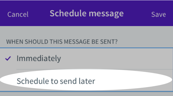 Schedule to send later button