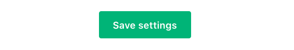 green 'Save Settings' button