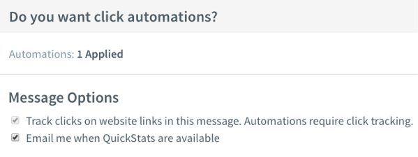 Do you want click automations? section