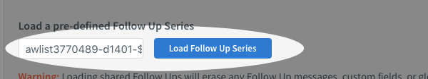 paste the code into the provided box and click to load that series