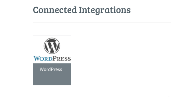 Connected Integrations section