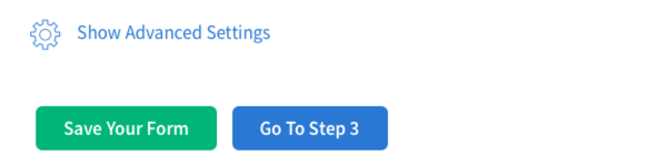 click save and then go to step three