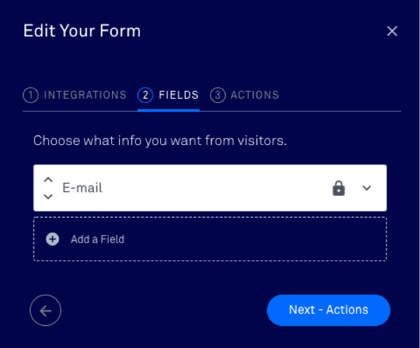 set up your form's fields