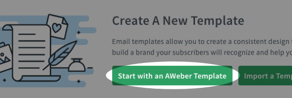 select start with an aweber template