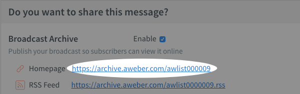 make sure archive enabled and retrieve the Homepage link if needed