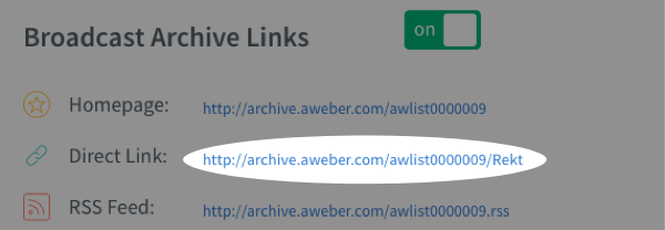 under broadcast arhive section, you can find the homepage and direct link