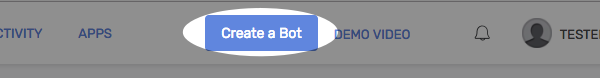 click to create a bot