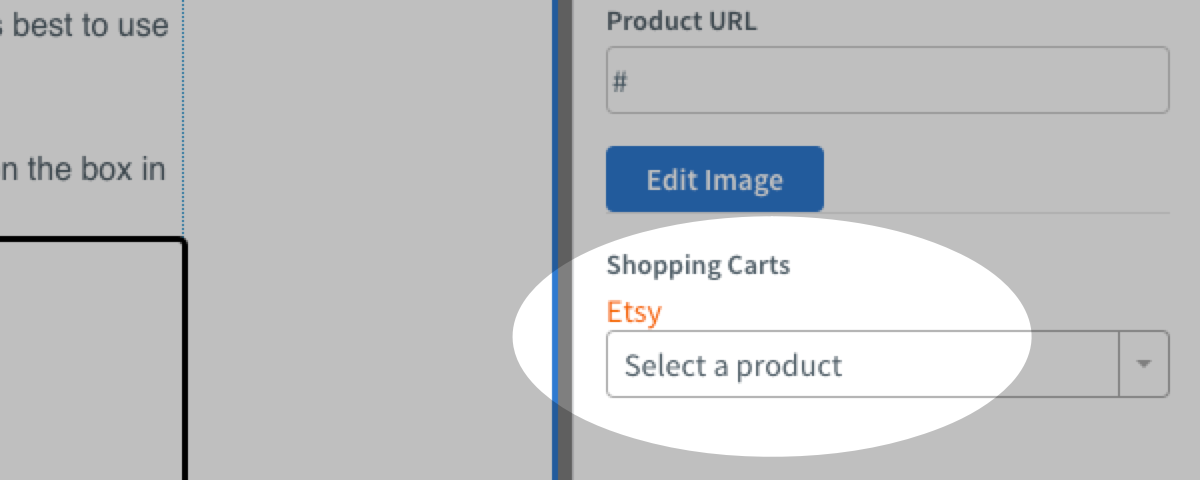 Select your Etsy product