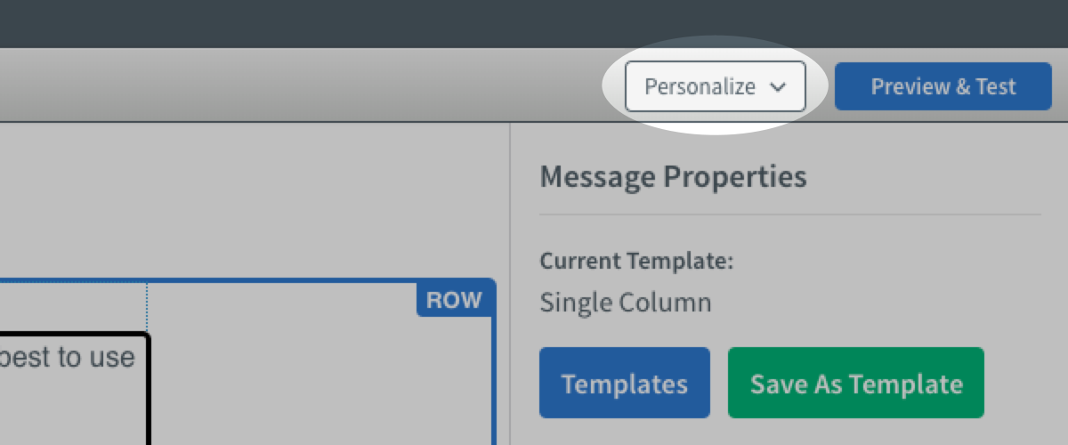 Click Personalize button