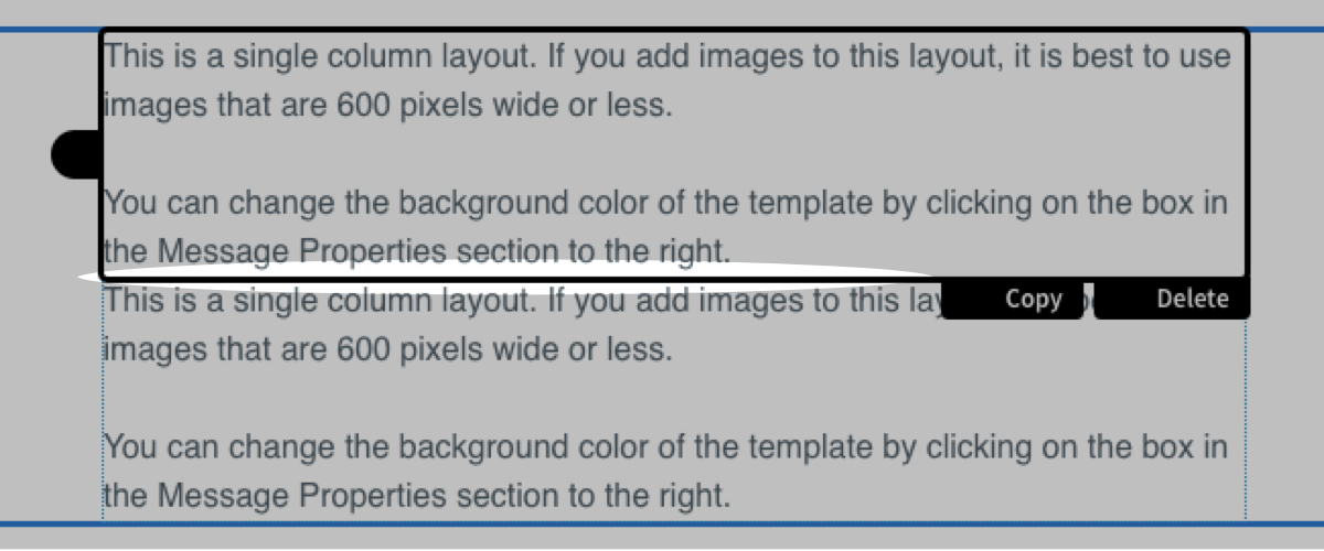 How do I add an image between paragraph blocks in the Drag & Drop ...