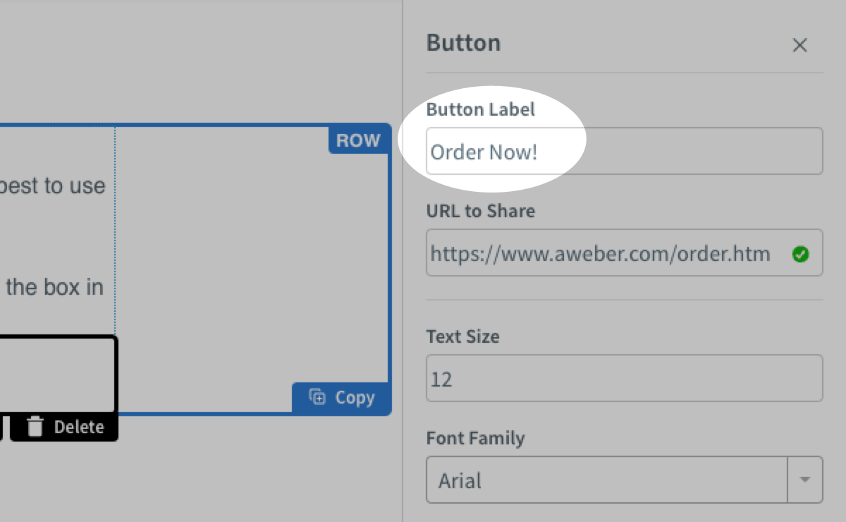 How do I customize a button in my message? – AWeber Knowledge Base