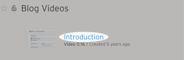 Click Introduction section