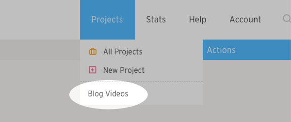 Click blog videos option