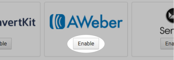 Enable AWeber button