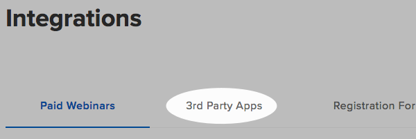 Click 3rd Party Apps