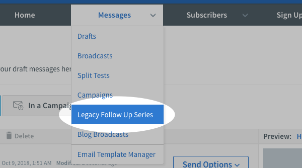 Click Legacy Follow Up Series page