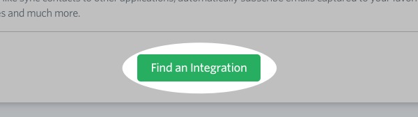 Click Find an Integration