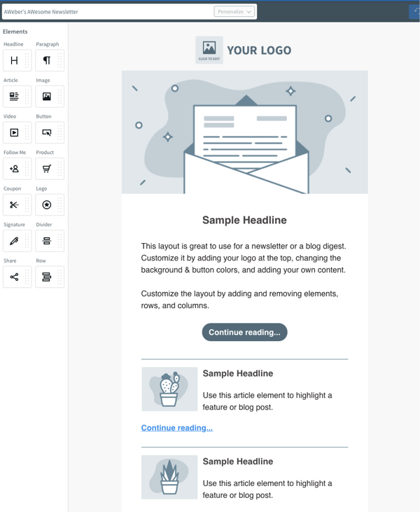 The Drag & Drop Email Builder
