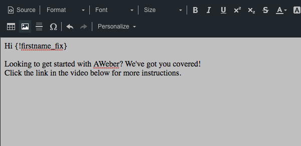 How do I add a video to my message? – AWeber Knowledge Base