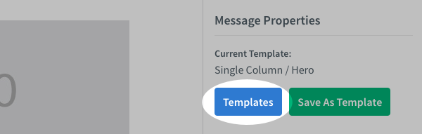 When you create a new message click Templates