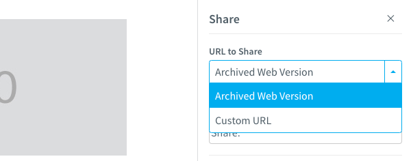 Connect to your Archive link or a custom URL
