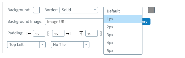 Adjust the thickness of the border from the next drop-down menu