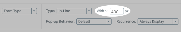 Use the Width input box to adjust to a specific width