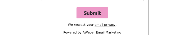 Example of an edited Submit button