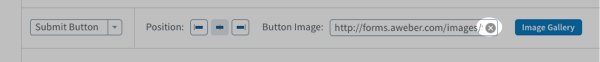 Delete any existing image URL from the Button Image field