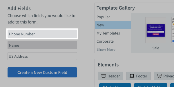 Click on the name of the field you already created to add it