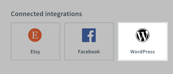 Click the integration you want to disconnect