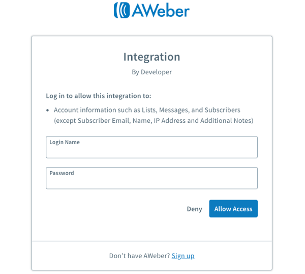 How do I add a Sign Up Form to my Facebook page? – AWeber Knowledge Base