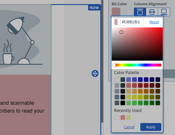 Use Color Picker for custom color