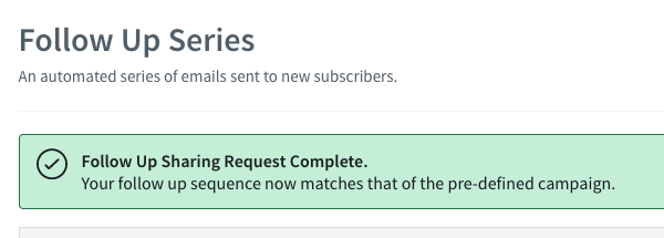 You will be prompted with a sharing request complete message