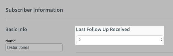 Change the Last Follow Up Received field to 0